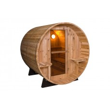 Pool Spas Barrel Sauna - Rustic 7 + 1ft