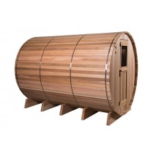 Pool Spas Barrel Sauna - Clear Red Cedar Grandview Multiroom 7 + 3ft