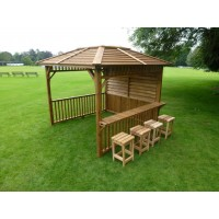 Pool Spas - Redwood Hot Tub Gazebo